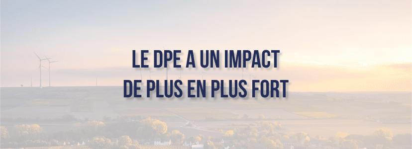 Le DPE a un impact de plus en plus fort